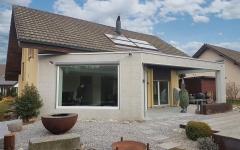 Erweiterung des Wohnbereiches eines bestehenden Einfamlienhauses. Komplettsanierung des Erdgeschosses