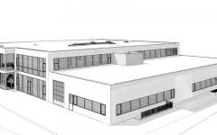 Neuer Gewerbepark, Prüfungshalle, Werkstatt, Gewerbe, Büroräumlichkeiten und Einstellhalle in Bützberg/BE